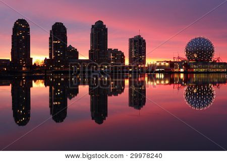 False Creek, Dawn Skyline, Vancouver