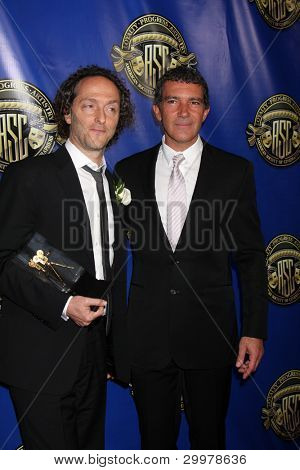 LOS ANGELES - FEB 12:  Emmanuel Lubezki, Antonio Banderas at the Press Area of the 2012 American Society of Cinematographers Awards on February 12, 2012 in Los Angeles, CA