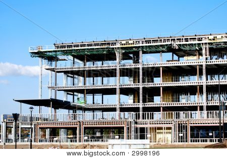 Steel Framed Building Under Construction