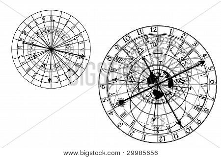 astronomische Uhr Vektor