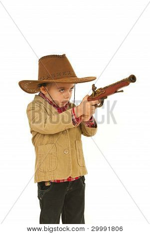Small Cowboy Boy Playing