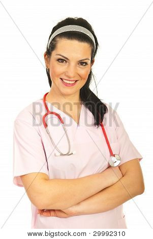 Friendly Nurse Woman