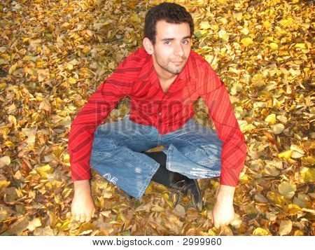 Smiling Man In Fall