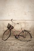 An Abandoned Broken Down Bicycle On The Streets Of Copenhagen Denmark. poster