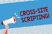 Conceptual Hand Writing Showing Cross Site Scripting. Business Photo Text Security Vulnerability Mai poster