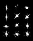 Set Of Sparkle Star, Sparkles Star Isolated Vector. Sparkles Icon, Sparkle Light. Sparkling Stars. S poster