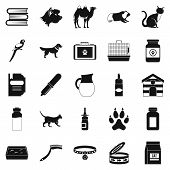 Vet Icons Set. Simple Set Of 25 Vet Icons For Web Isolated On White Background poster