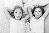 Leisure And Fun. Having Fun With Best Friend. Children Playful Cheerful Mood Having Fun Together. Pa poster
