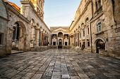 The Diocletians Palace In Split, Croatia. poster