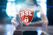 Ssl Secure Sockets Layer, A Computing Protocol. Security Of Data Sent Via The Internet By Using Encr poster