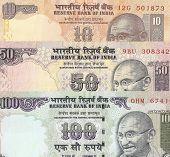image of mahatma gandhi  - Fragment of Indian banknotes  - JPG