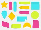 Illustration Of A Colored Set Of Sticky Notes. Flat Design Modern Vector Business Concept. poster
