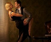 stock photo of office romance  - Retro couple dancing - JPG