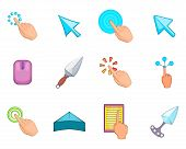 Cursor Icon Set. Cartoon Set Of Cursor Icons For Your Web Design Isolated On White Background poster