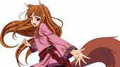 Anime Girl With Brown Hair And In Fox Costume poster