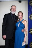 LOS ANGELES - FEB 12:  James Cromwell, Penelope Ann Miller at the Press Area of the 2012 American So