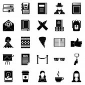 Writer Icons Set. Simple Set Of 25 Writer Icons For Web Isolated On White Background poster