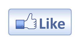 picture of follow-up  - Thumb up hand with like text on button - JPG
