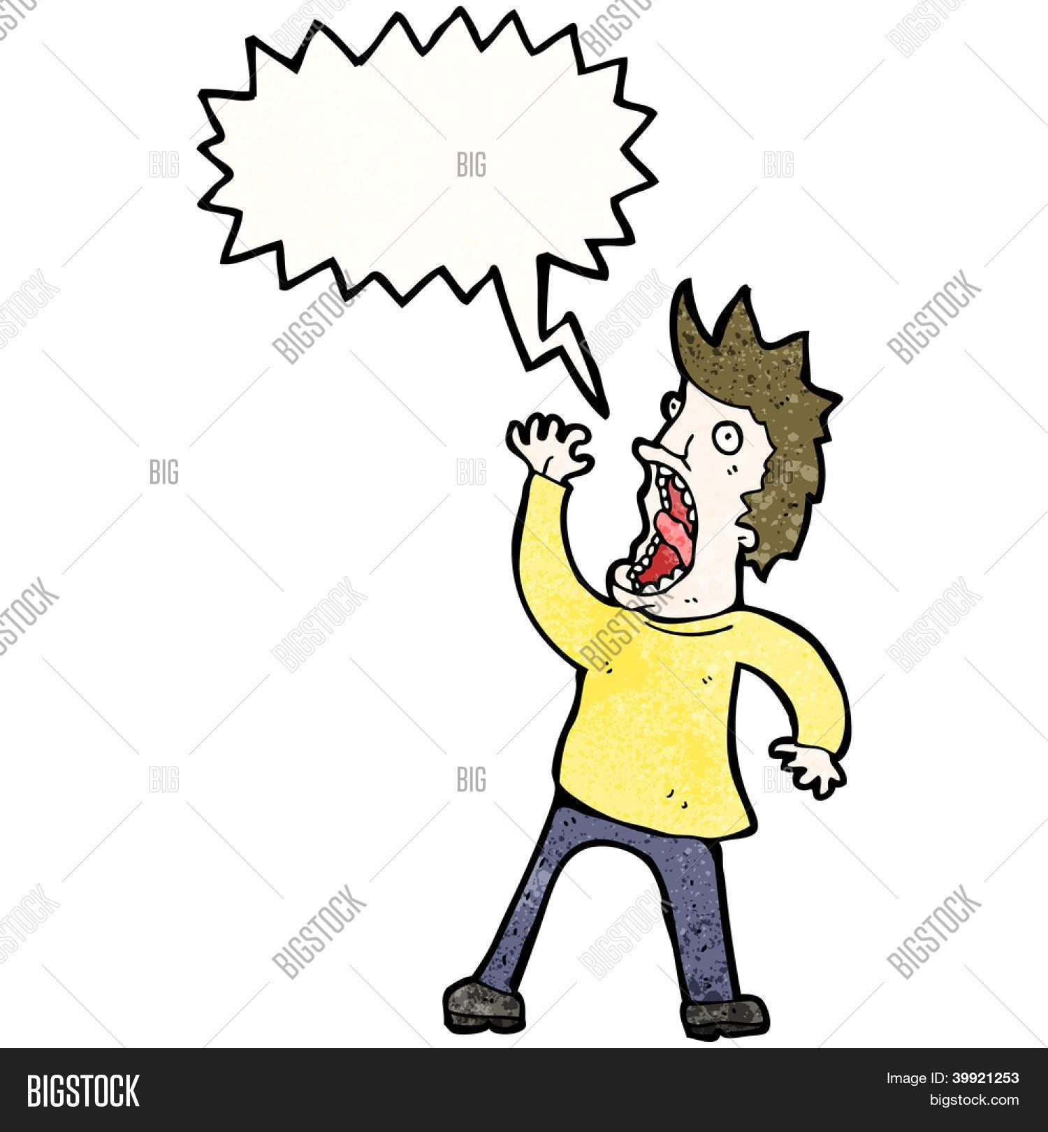 screaming man cartoon ...