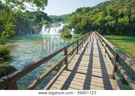 Krka National Park is one of the eight national parks in Croatia.