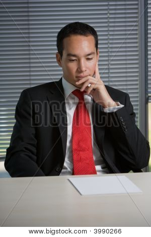 Business Man Browsing Documents