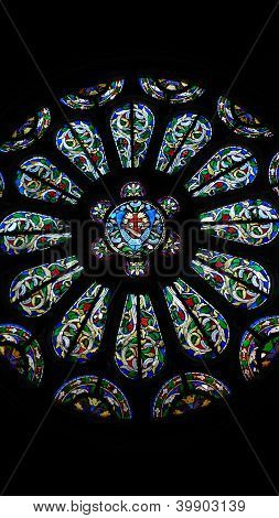 colorful rose window