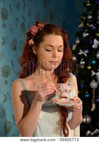 tea party on Christmas Eve