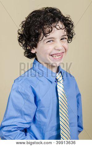 Mischievous Latin Boy