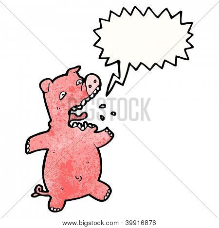 cartoon squealing pig