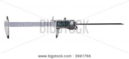 Digital Vernier Caliper Isolated On White