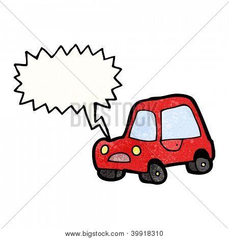 cartoon honking car