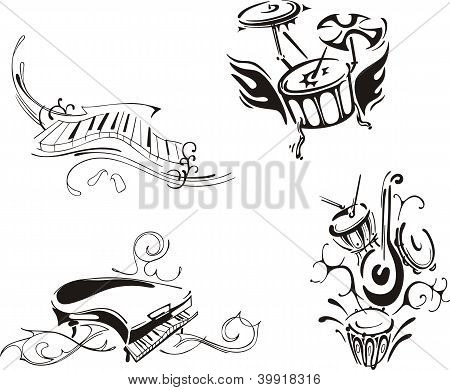 Stylized Piano And Percussion