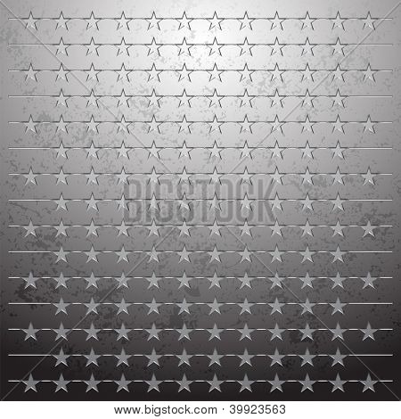 Vector illustration of a metallic background with perforation