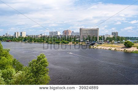 View Of Rusanivka, One Of Kiev Residential Communities. Ukraine