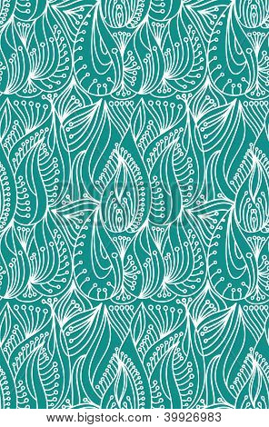 floral leaves seamless vector wallpaper background pattern