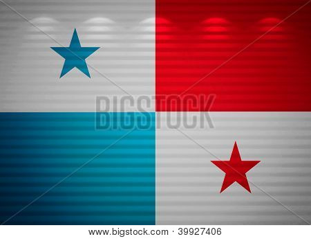 Panamanian Flag Wall, Abstract Background