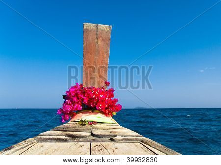 Asian Boat Seascape Serenity
