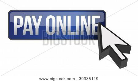 Blue Button Pay Online And Cursor