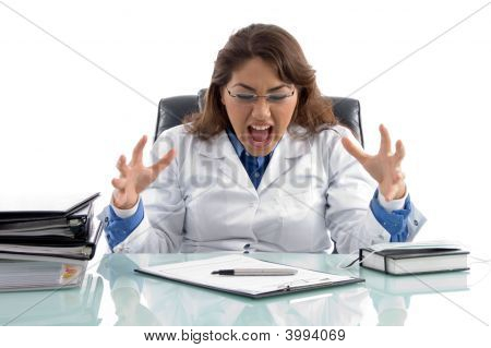 Frustrated Doctor In Workplace