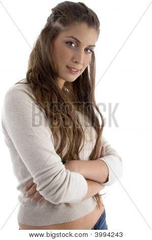 Fashionable Female Model Posing