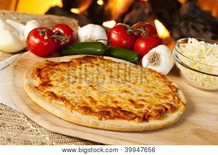 Classic Homemade Italian Cheese Pizza