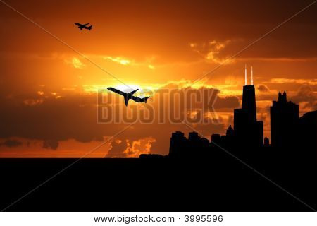 Planes Departing Chicago