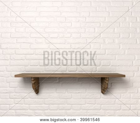 Shelf On A Wall Front