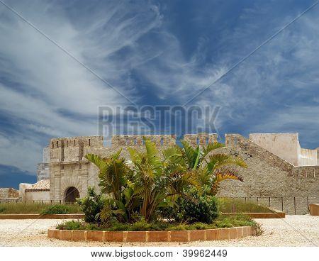 Castle Syracuse. Sicily, Italy. Frederick Ii Castle (maniace Castle)- Unesco World Heritage Site