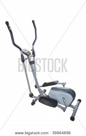 Elliptical Simulator Isolated On White