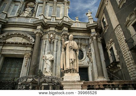 The Cathedral Of Catania, Entitled To St. Agatha, Is A Church In Catania, Sicily, Southern Italy.
