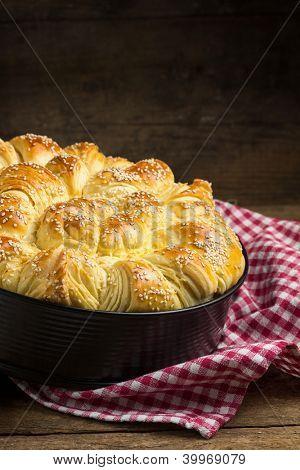 Pogaca, traditional Balkan pastry dish