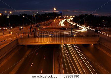 Traffic Lights On Highway