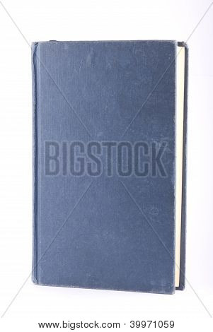 Old Blue Book Isolated On White
