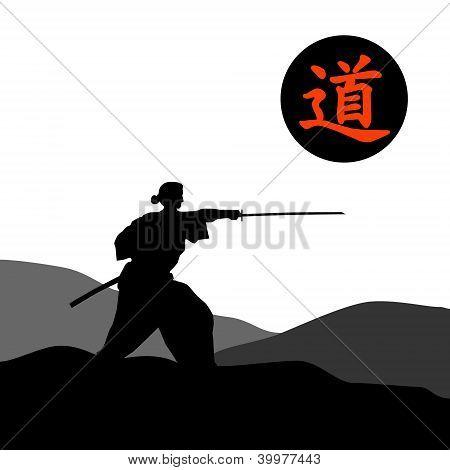 Samurai silhouette